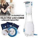 Art City Elektrischer Läuse-Kamm, 110V elektronische Flohkamm-Welpen-Floh-Behandlung-sichere Haustier-Tötung für Hunde Katzen + 3 Filter