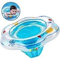 Flotador de anillo de natación de bebé con asiento, anillo de piscina de natación inflable con PVC de cuidado de la piel, anillo de flotador de baño de bebé ...