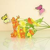 3 pièces en gros FYZS Une seule simulation artificielle de décoration de fleurs en plastique tissu en soie fleur C