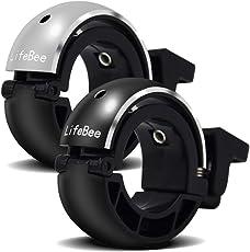 LIFEBEE Fahrradklingel, 2 Stück Fahrradglocke Klingel Helltönenden Glocke für Fahrrad Mountainbike, Schwarz+Silber