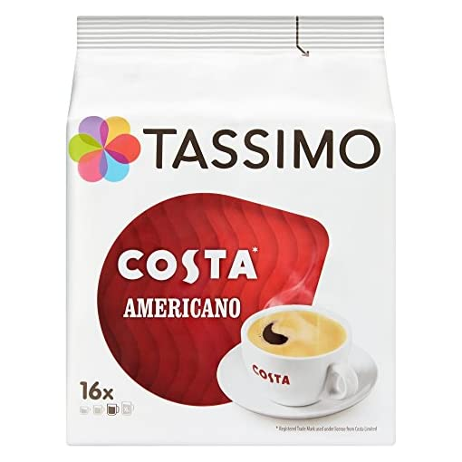 Tassimo Costa Americano Coffee Pods (Case of 5, Total 80 pods, 80 servings) 51wSccoB4jL