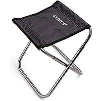 LB trading Taburete plegable para exteriores, mini silla portátil de aleación de aluminio para acampada, pesca, senderismo