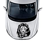YuanMinglu Lion Auto Aufkleber Spaß Auto Vinyl Rückfahrkamera Objektiv Motorabdeckung Dekoration Abnehmbare Fenster Schwarz S 12 cm X 13 cm