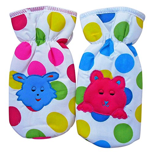 Littly Polka Dots Bottle Covers, Pack of 2 (Multicolor)