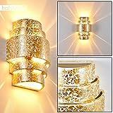 Lámpara de pared cerámica moderna Handan -Con efecto up & down - Aplique para salón, dormitorio, sala de niños, comedor, vestíbulo - dorada