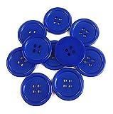 10 Kunststoff Knöpfe 28mm Knopf aus Acryl (Mitternacht Blau, 10)