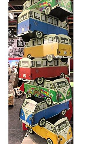 Werkhaus BÜCHERBUS VW HIPPIE Kiste Bücherkiste Aufbewahrungsbox