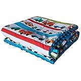 Feder Traumfänger Minky Babydecke Kuscheldecke Krabbeldecke Decke Super weich und flauschig Handarbeit (75x100, Blau Auto)