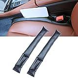 Garniture d'espace de siège de voiture, EFORCAR 2 PCS Universel PU En Cuir Auto Siège De Voiture Frein Gap Filler Convient pour la plupart des véhicules (Noir)