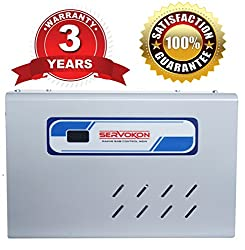 Servokon Sk 417a Digital Voltage Stabilizer for 1.5 Ton Ac (170-260v)(Grey) (Aluminium)