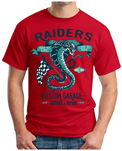 OM3 - SNAKE-RIDERS - T-Shirt GEEK, S - 5XL Rot