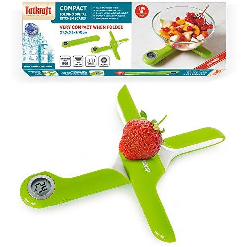 Tatkraft Compact Báscula de Cocina Digital Plegable Tamaño de Bolsillo
