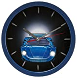 Unbekannt Wanduhr Auto blau Wallclock cars blue