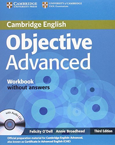 Objective Advanced Workbook without Answers with Audio CD by Felicity O'Dell (2012-11-12)