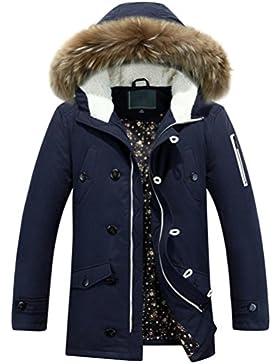 MHGAO abrigo de invierno chaqueta de negocio de los hombres al aire libre , hide blue , l