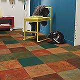 livingfloor® PVC Bodenbelag Mediterranes Fliesendekor Terracottafliesen Mehrfarbig 2m Breite, Länge variabel Meterware, Größe:4.50x2.00 m