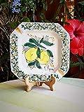 Posacenere in Ceramica Siciliana Posacenere da Tavolo Decorato a mano con limoni. Regalo. Le ceramiche di Ketty Messina.