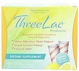 ThreeLac Probiotic, Lemon Flavour, 60 Packets, .053 oz (1.5 g) Each