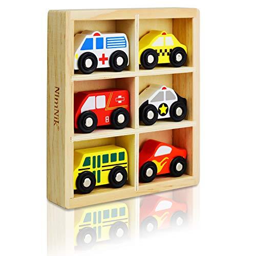 Autos School Bus Motor Notfall Fahrzeuge Pädagogisches Spielzeug für Das frühe Lernen für 2 Jahre alt ()