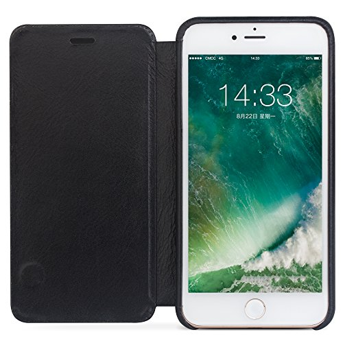 qialino Apple iPhone 7/7Plus Leder Flip Case Flio Fall Hellbraun iPhone 7 case Light Brown iPhone 7 Plus case Black