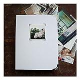 ZHAOXIANGXIANG Extra Großes Fotoalbum/Scrapbook Hochzeit Gästebuch/Weiß No-Printed DIY Für Baby, Weißen Laken Album