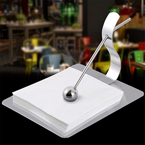 Luckyhousehome Basics Scroll Collection Papier flach Serviette Gewebe Halter in Schöne Einrichtung Stahl Art, 18/10-Stahl, 6.5