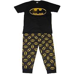 DC Comics Hombres Batman Logo Set de Pijama de Dos Piezas - Pequeño