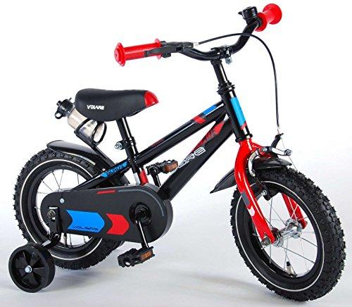 12 Zoll Fahrrad mit Rücktritt und Stützräder Kinderfahrrad Jungen schwarz 81201