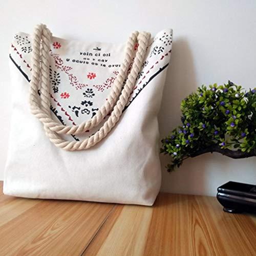 Preisvergleich Produktbild Wenwenzui Simple and Clean Canvas Crossbody Bag Casual Shoulder Bag Hobo Bag Student Bag White