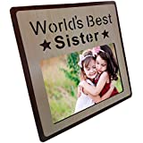 [Sponsored]Art Street Wood Engraved Personalized World's Best Sister Photo Frame, Picture Frame - Birthday Gift- Photo Size 4x6 Inchs
