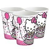 Hello Kitty Geburtstag 8Pappbecher