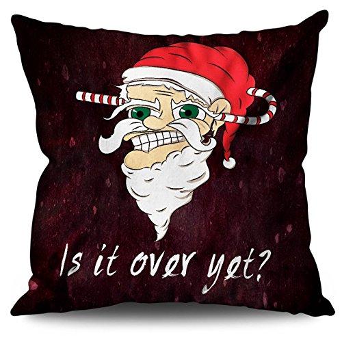 Zu Ende noch Weihnachtsmann Weihnachten Böse Weihnachtsmann Leinen Kissen 30cm x 30cm| Wellcoda
