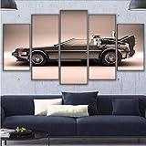 gwgdjk HD Home Decor Modern Canvas Living Room 5 Pezzi Ritorno al Futuro Immagini Pittura Poster da Parete Modulare Poster Stampato-40X60/80/100Cm,Without Frame