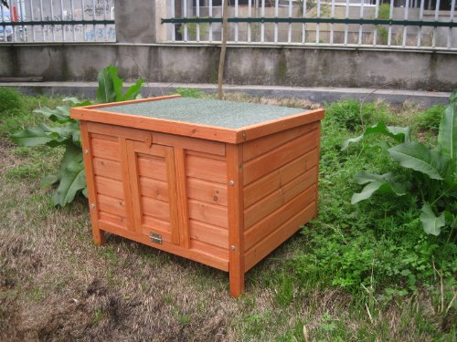 BUNNY BUSINESS Rabbit/ Guinea Pig Giant Hide House/ Run Hutch, Extra Large, 60 × 47 × 50 cm 3