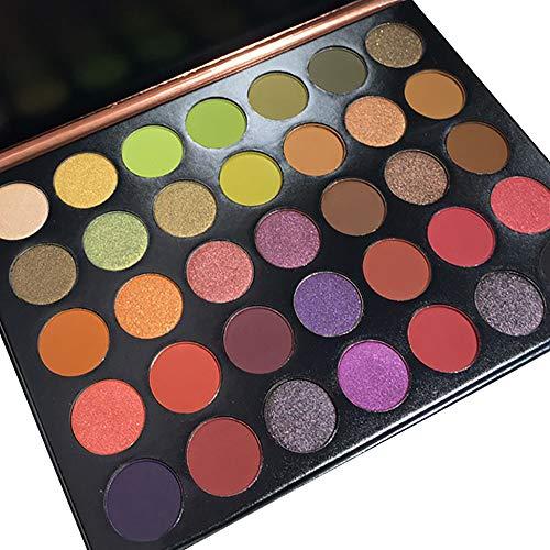 Beisoug Shimmer Glitter Fard à Paupières Palette de Maquillage en Poudre Fard à Paupières Maquillage cosmétique