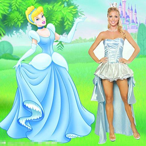(Gorgeous Halloween -Fantasie-Fee Frack Disney Märchen Schneewittchen Königin Kostüm mit Krone)