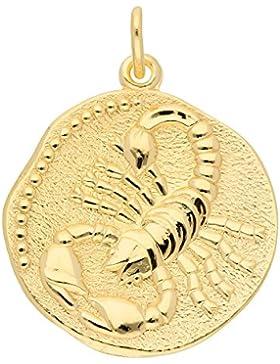 Gold 8 k ( 333 ) Sternzeichen Anhänger - Skorpion - Ø 18,2 mm