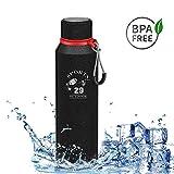 Bottiglia in Acciaio Inossidabile, 720ml Vacuum Bottiglia Termica Acciaio inox Borraccia per Acqua...