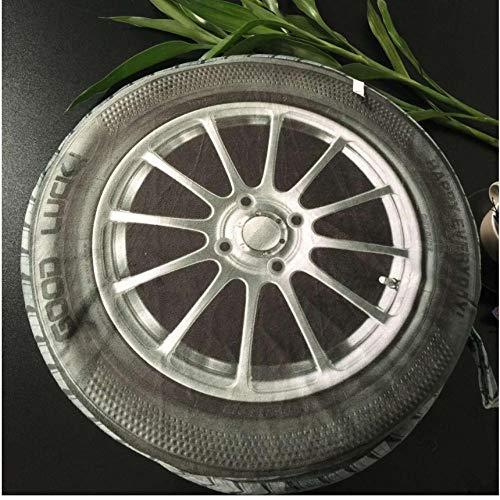 Hyllbb DIY ölgemälde 3D Kissen Reifen Räder Cojines PlüschtierKissen Kissen RadReifenkissen Reifenkissen Almofada Criativa-40 * 50Cm,With Frame -