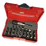 TANOS Micro systainer® rot mit 24-teiligem Bit-Set und Bithalter 8 x Kreuz + 16 x Torx