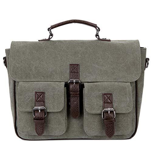 Convertible Backpack Messenger Bag Umhängetasche Laptoptasche Handtasche Lässig Seitentasche Multifunktionale Outdoor Sports Crossbody Satchel Schultasche,Green - Convertible Messenger Bag