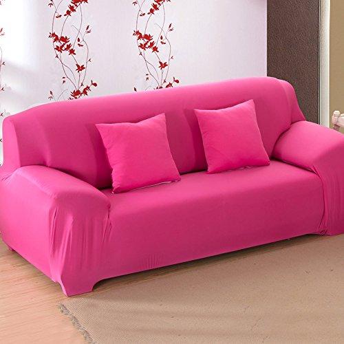 SSDLRSF Soild Farbe fest all-inclusive Sofabezug Stretch Sofa Schonbezug Stoff elastisch Couchbezug Loveseat Sofa Möbelbezug 1pc...