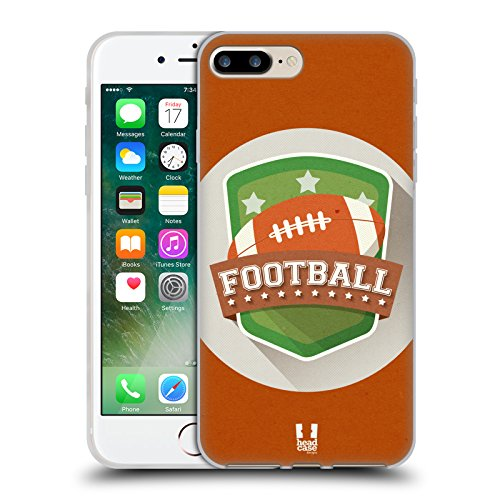Head Case Designs Football Stemmi Del Calcio Cover Morbida In Gel Per Apple iPhone 7 Plus / 8 Plus Football