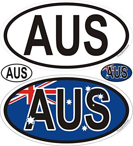 Aufkleber Pazifik Australien Länderaufkleber Nationalitätenkennzeichen oval