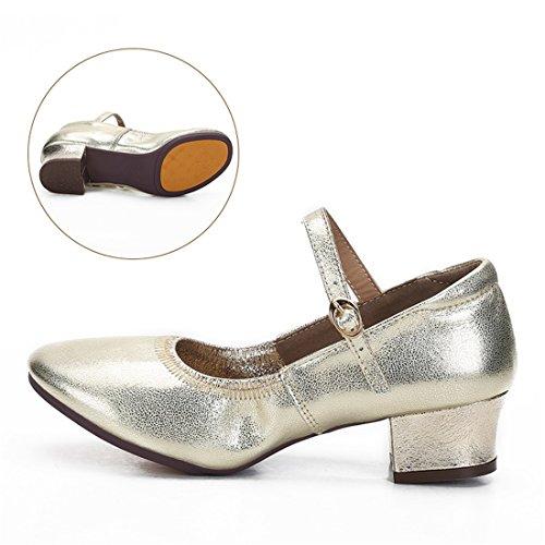 Wxmddn Scarpe da ballo femminile scarpe da danza dorata scarpe da danza adulta per le scarpe da denti adulti Oro