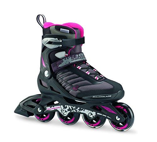 Rollerblade Women's Zetrablade 80 Skate, Black/Pink, US Size 9