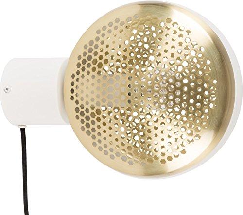 Design Waschtisch Licht (Zuiver Wandlamp Gringo 1-Lichts Ø22.5 x H12 cm - Wit)
