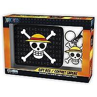 ABYstyle-Monedero con Llavero de One Piece con Calavera y Sombrero de Luffy, ABYPCK114