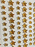 228 Stück glitzernde Sterne Strasssteine Sticker gold gelb 6mm basteln Glitzersteine Schmucksteine Sticker Strass Weihnachten Steine zum Verzieren von CRYSTAL KING