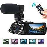"""Camcorder Videokamera, ACTITOP FHD 1080P 30FPS 24MP IR Nachtsicht YouTube Vlogging-Kamera 3""""Touchscreen Digitalcamcorder mit Mikrofon, Fernbedienung, 2 Batterien"""